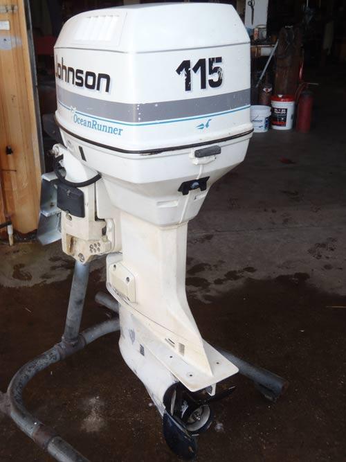 Johnson 115 hp outboard motor fuel Filter Upgrade